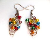 Chainmaille Silver Pride Earrings