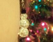 Glass Snowman Earrings