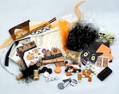 Halloween Inspriation Kit Altered Art Mixed Media Journaling Scrapbooking