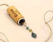 Upcycled Wine Cork Handmade Boho Hemp Necklace with Beads Charms