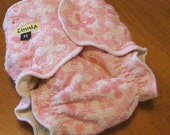 Vintage Inspired, Cloth Baby Diaper, Medium, Pink, Girl, Organic, SALE
