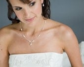 Wedding Necklace Set, Freshwater Pearl Bridal Jewelry, Swarovski Crystal Necklace and Earrings (SET)