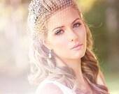 Petite Birdcage Veil Crystal Comb, Wedding veil, Bridal Veil, Wedding Hair Accessory