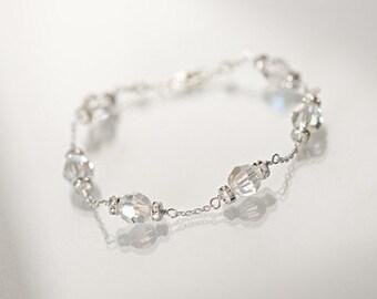 Wedding Bracelet, Bridal Crystal Bracelet, Swarovski Crystal Bracelet