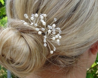 Bridal Hair Pins, Swarovski Crystal & Pearl Hair Pins, Wedding Hair Pins, Wedding Headpiece