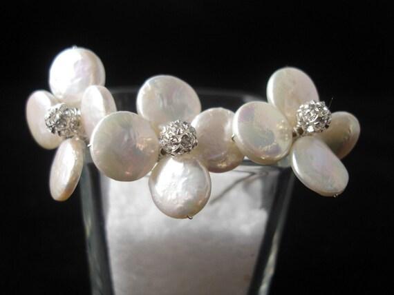 Bridal Hair Pins, Freshwater Pearl Hair Pins, Wedding Hair pins