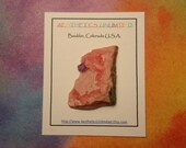 RHODOCHROSITE and FLUORITE Natural Rhodochrosite Crystal With Purple Fluorite Crystal Mineral Specimen From China