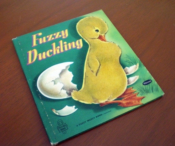 Fuzzy Duckling -- 1952 Vintage Children's Book