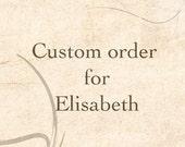 Bell skirt in red - custom order reserved for Elisabeth