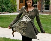 upcycled tunic . camouflage my heart