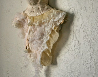 upcycled clothing . XS - S . wearable art capelet