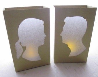 Custom Luminaries - As Seen in Martha Stewart Weddings - Made to Order