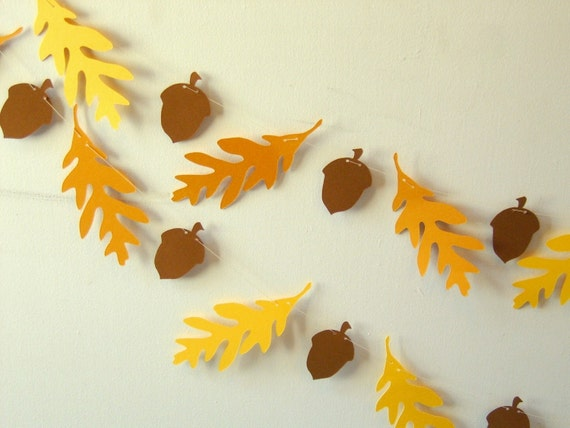 Oak and Acorn Paper Garland