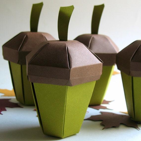 Acorn Boxes - Set of 4