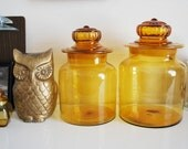 vintage glass canisters