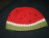 Custom Watermelon Hat Beanie Boy Girl Unisex Crochet