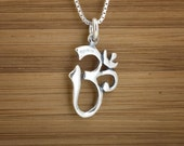 Ohm Charm - Om Namaste Charm - STERLING SILVER - (Charm, Necklace, or Earrings)