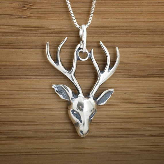 Stag Pendant - STERLING SILVER
