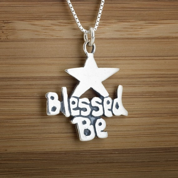 Blessed Be Star - STERLING SILVER - (Pendant, or Necklace)
