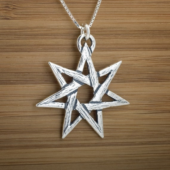 Large Fairy Star Pendant - Faerie Star - STERLING SILVER - (Pendant, Necklace, or Earrings)