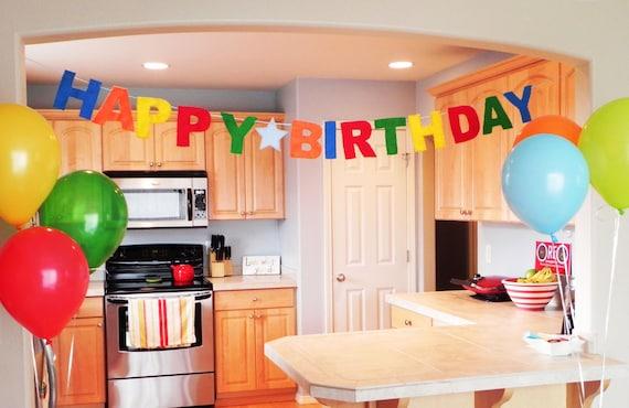 Happy Birthday Banner - Primary Colors