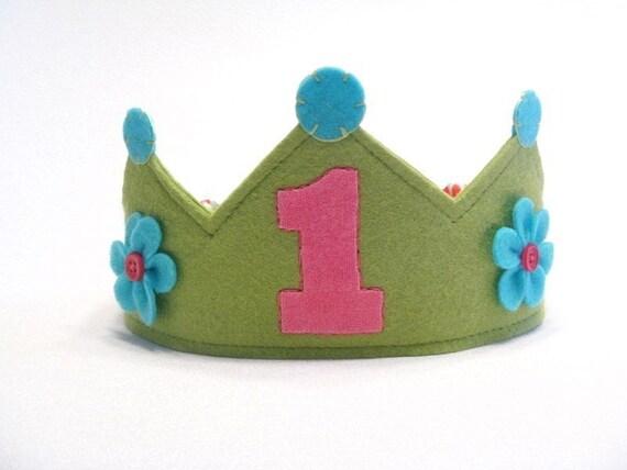 Girlie Green Birthday Crown