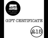 Gift Certificate - 15 Pounds