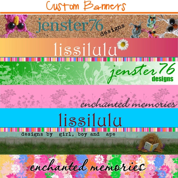 Custom Banner for your etsy store