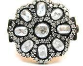 Gold Diamond Ring - Ottoman Harem Collection- GORGEOUS