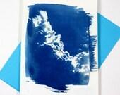 Thunder head cumulus cloud blank card