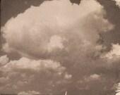 Experimental print Clouds
