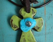 Sculpted Cross Necklace