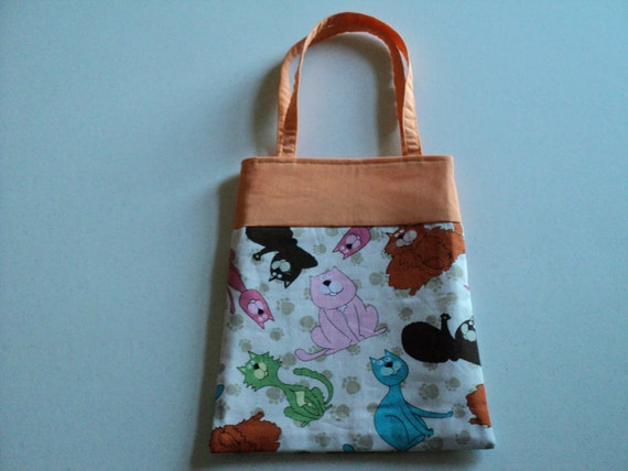 Fabric Gift Tote/Bag - Cats