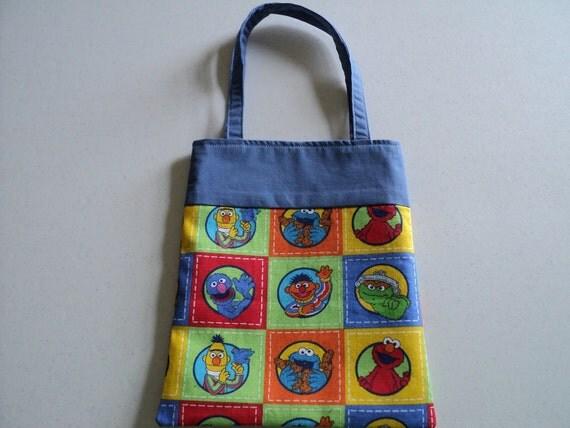 Fabric Gift Tote/Bag - Sesame Street