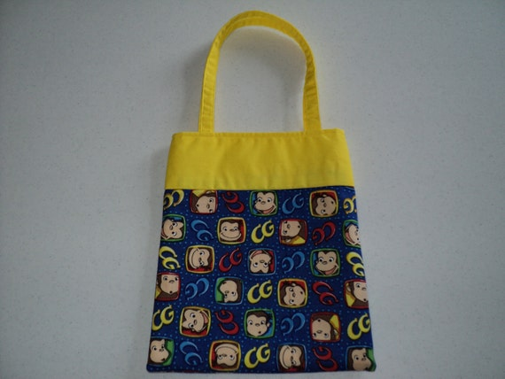 Fabric Gift Tote/Bags -  Curious George