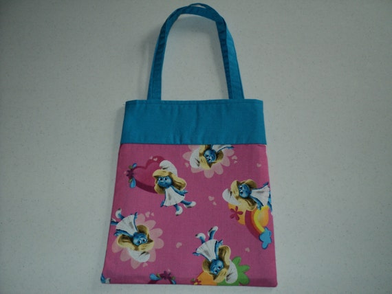 Fabric Gift Tote/Bags -  Smurfette
