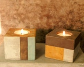 """3"""" square candleholder pair"""