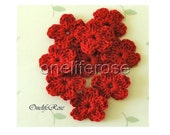 Crochet Flowers RED(Red 00115)