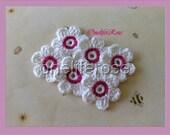 Crochet Flowers White Pink