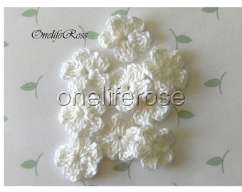 Crochet Flowers WHITE