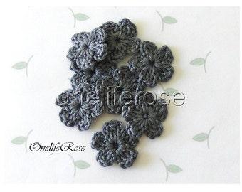 15 pieces Mini Crochet Flowers (STONE 00242)
