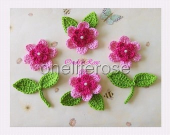 Princess Flowers..............10 pieces Pink-Cyclam