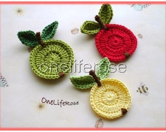Crochet Apple 1 Piece
