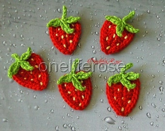 Crochet  Strawberry 1 piece