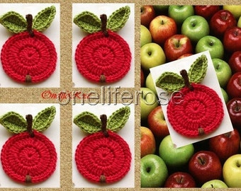 Crochet Apple 1 piece Red