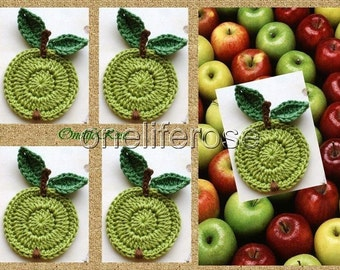 Crochet Apple 1 Piece Apple Green Cotton