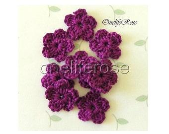 Crochet Flowers 15 pcs Mini ( Hyazinth 0000240)
