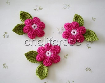 Crochet Flowers  More color option for center