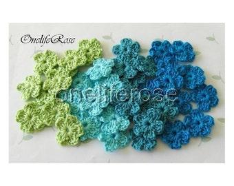 25 pieces Mini Crochet Flowers Mix