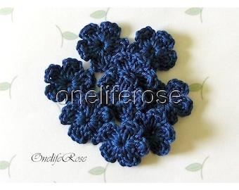 15 pieces Mini Crochet Flowers (Jeanblue 00164)